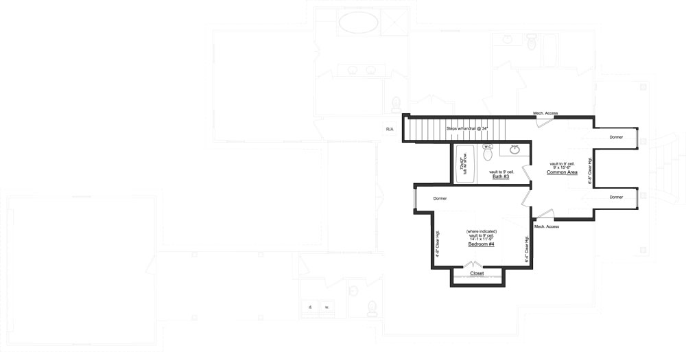 Optional 2nd Floor Bonus image of Lake Drive House Plan