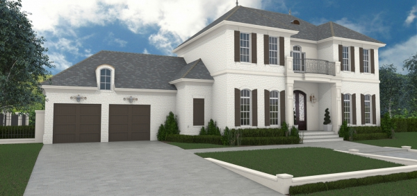 Front Rendering image of First Lady House Plan