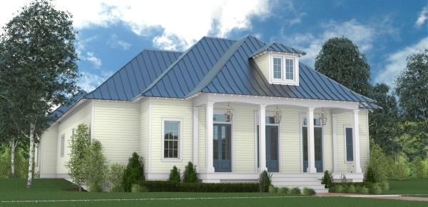 Front Rendering image of Scarlett Lane House Plan
