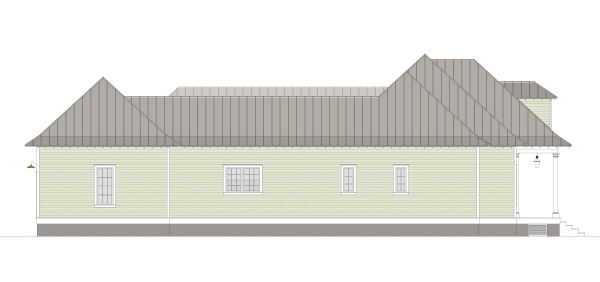 Left Elevation image of Scarlett Lane House Plan