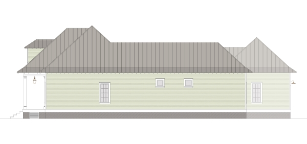 Right Elevation image of Scarlett Lane House Plan