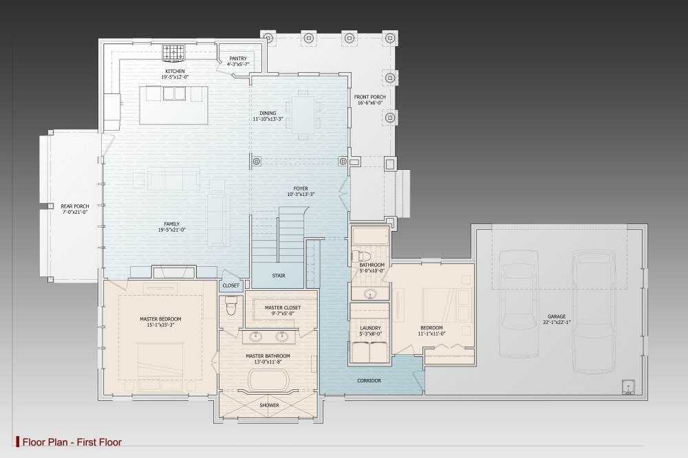 1st Floor Plan image of Daisy Drive House Plan
