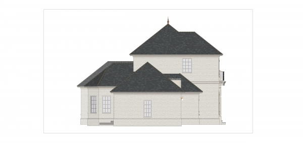 Left Elevation image of First Lady House Plan