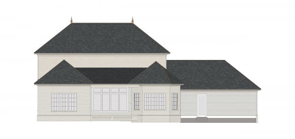 Rear Elevation image of First Lady House Plan