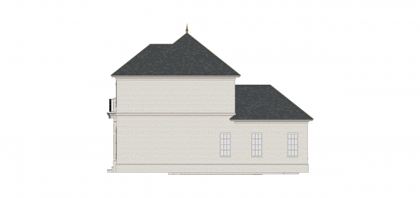 Right Elevation image of First Lady House Plan