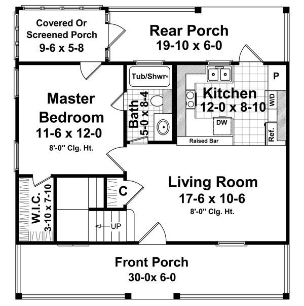 1st Level Floorplan image of The Juniper Cove House Plan
