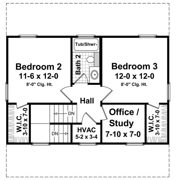 2nd Level Floorplan image of The Juniper Cove House Plan