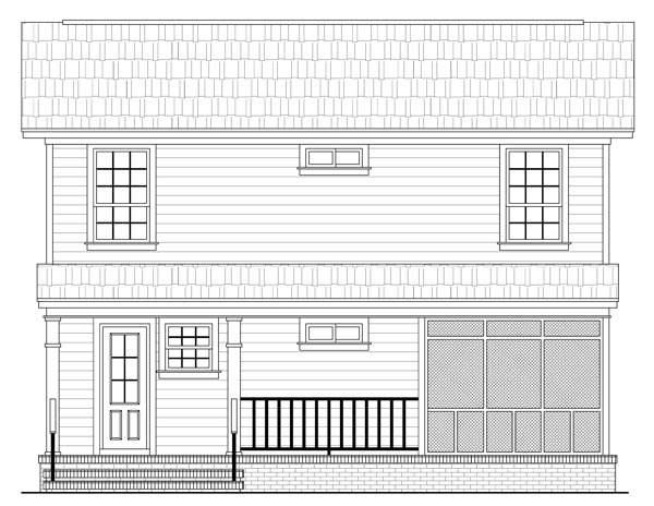 Rear Elevation image of The Juniper Cove House Plan