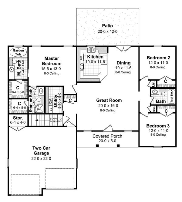 Cape Cod House Plan with 3 Bedrooms and 2.5 Baths - Plan 5750 Rambler House Plans Under Sq Ft on house plans under 600 sq ft, house plans under 1100 sq ft, house plans under 2500 sq ft, house plans under 1300 sq ft, house plans under 1600 sq ft, house plans under 2100 sq ft, house plans under 400 sq ft, house plans under 1900 sq ft, house plans under 2400 sq ft, house plans under 800 sq ft, house floor plans under 1000 sq ft, house plans under 1800 sq ft, house plans under 1200 sq ft, house plans under 700 sq ft, house plans under 300 sq ft, house plans under 900 sq ft,