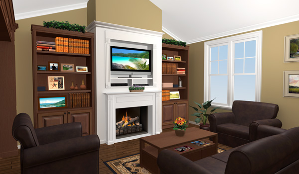 Interior View - Great Room by DFD House Plans