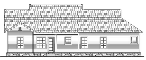 Rear Elevation image of The Wilson Creek House Plan