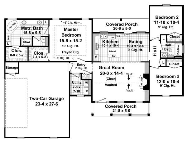 Floorplan image of The Longwood House Plan