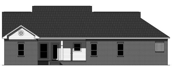 Rear Elevation image of The Longwood House Plan