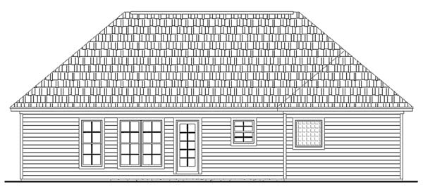 Rear Elevation by DFD House Plans