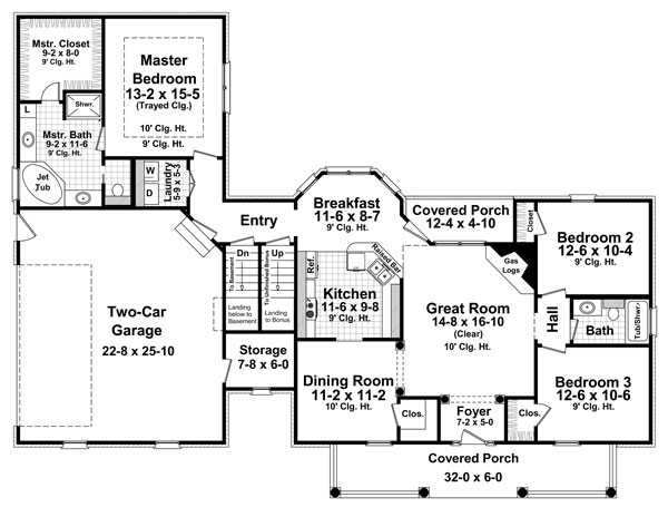 1st Level Floorplan by DFD House Plans