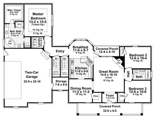1st Level Floorplan by DFD House Plans