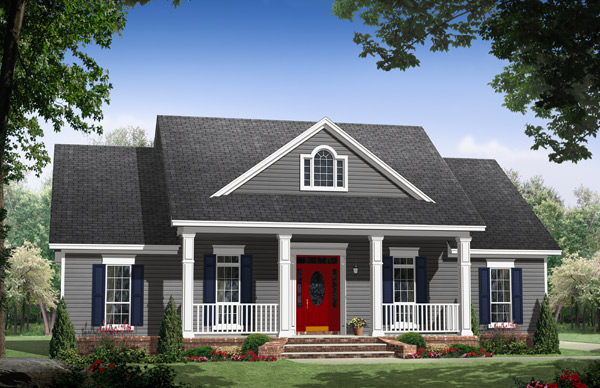 Front Elevation image of The Iris Avenue House Plan