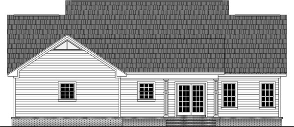 Rear Elevation image of The Iris Avenue House Plan