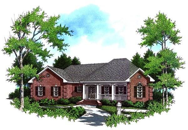 Front Elevation image of The Cherrywood House Plan