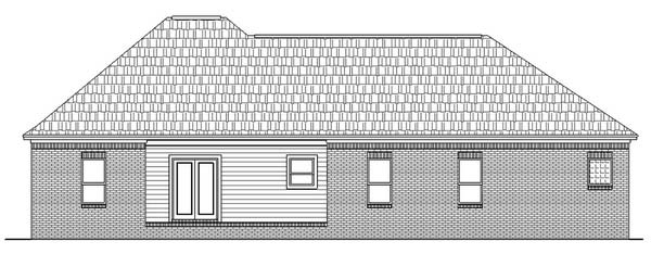 Rear Elevation image of The Cherrywood House Plan
