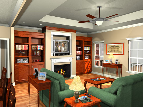 Interior - Living Room by DFD House Plans