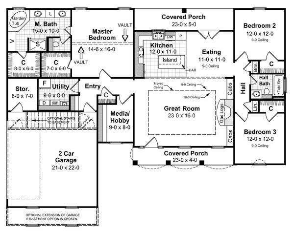 Colonial House Plan with 3 Bedrooms and 2.5 Baths - Plan 5696