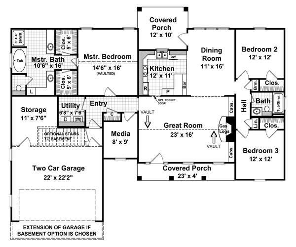 Country house plan with 3 bedrooms and 2 5 baths plan 5749 for 1125 maxwell lane floor plans