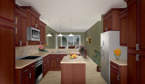 Interior View - Kitchen by DFD House Plans