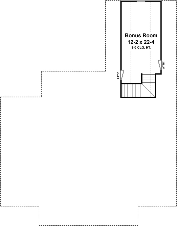 Bonus Room Floorplan by DFD House Plans