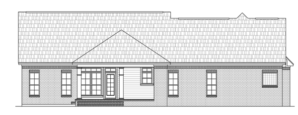 Rear Elevation image of The Forrest Wood House Plan