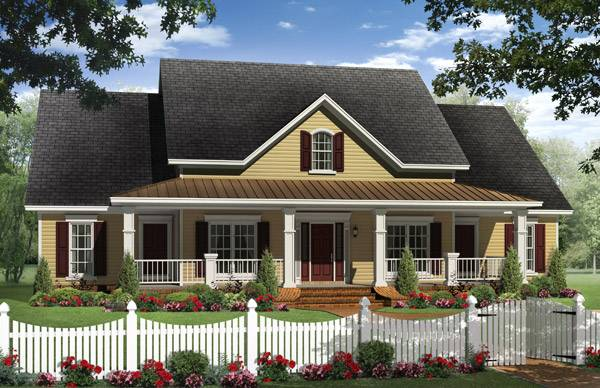 DFD-1028, 4 Bedroom, 2.1 Bath Traditional Corner-Lot Plan
