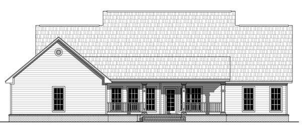 Rear Elevation image of The Berkshire House Plan