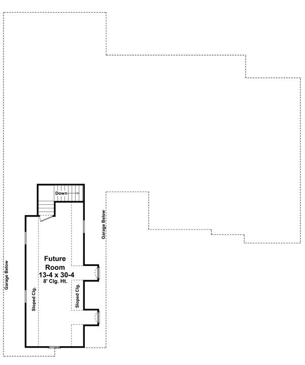 Bonus Room Floorplan image of Jacob's Landing House Plan