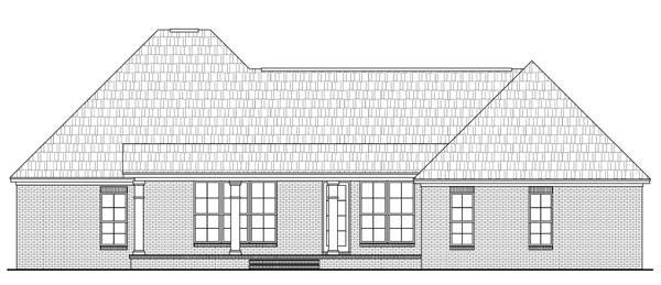 Rear Elevation image of Jacob's Landing House Plan