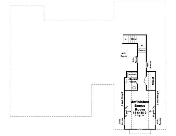 Bonus Room Floorplan