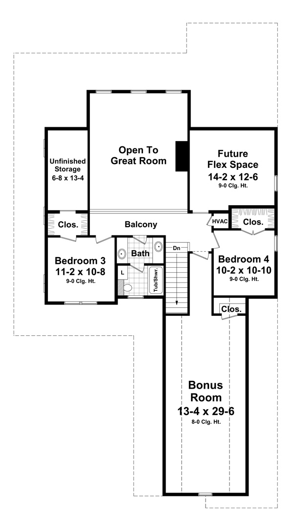 2nd Level Floorplan by DFD House Plans