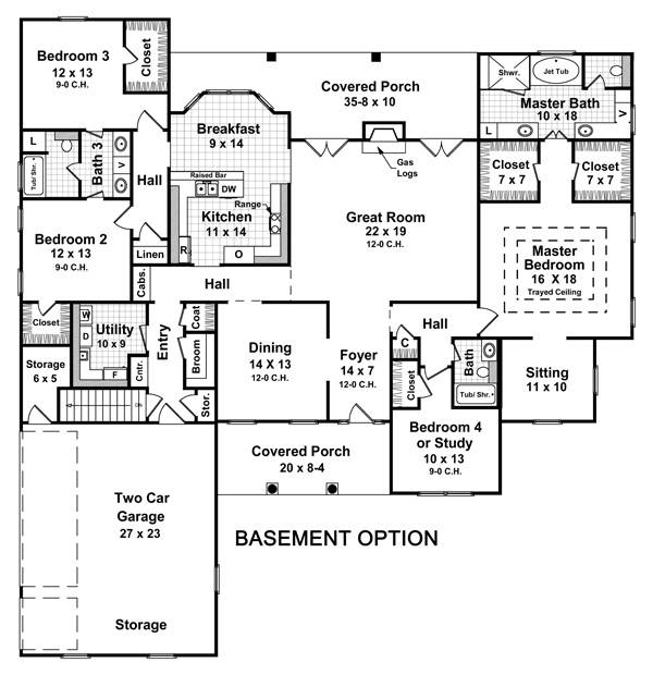 Basement Option Floorplan