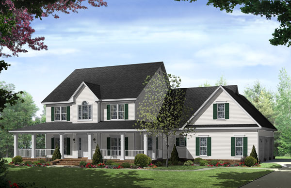 Front Elevation image of The Stonewood Lane House Plan