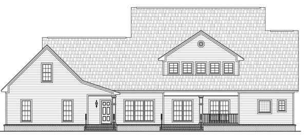 Rear Elevation image of The Stonewood Lane House Plan
