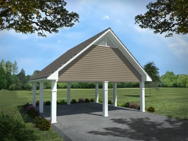 Detached Carport by DFD House Plans