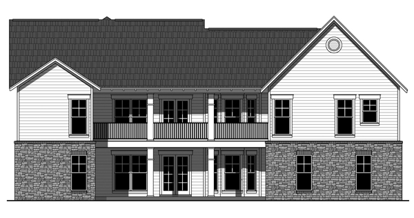 Rear image of Westwood Park House Plan