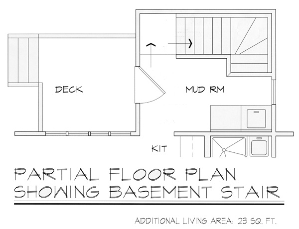 Basement Entry by DFD House Plans