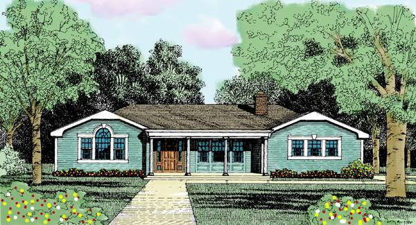 Front Rendering image of FARRAH House Plan