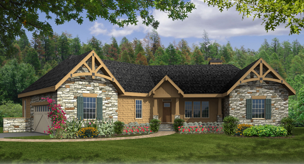 Ranch House Plan With 3 Bedrooms And 2.5 Baths - Plan 4421