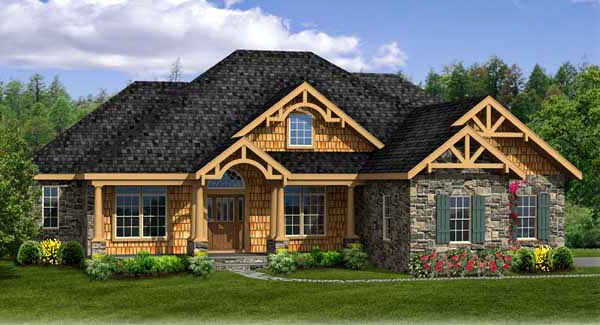 country house plan with 4 bedrooms and 35 baths plan 4968 - 2 Story Country House Plans