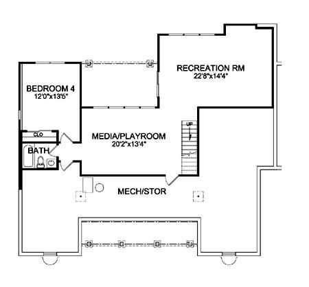 Optional Walk-out Basement Plan
