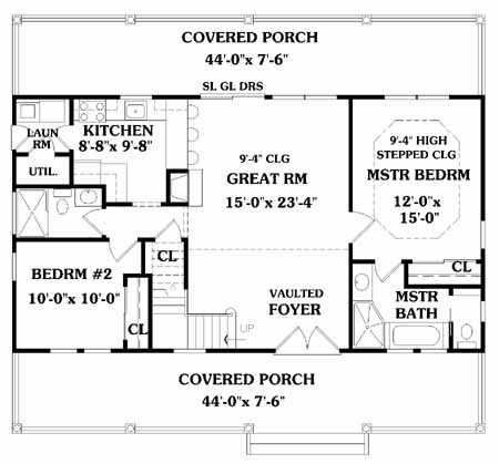 First Floor Plan image of LAKESIDE House Plan