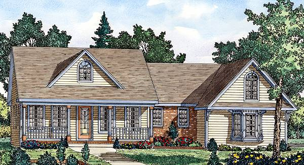 Color Rendering image of AUGUSTA House Plan