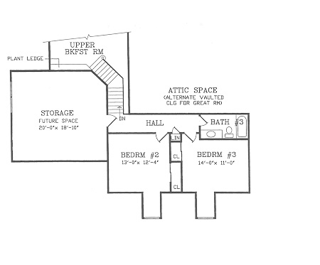 Second Floor Plan image of CAMELLIA House Plan