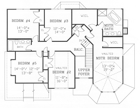 Second Floor Plan image of GETTYSBURG II House Plan
